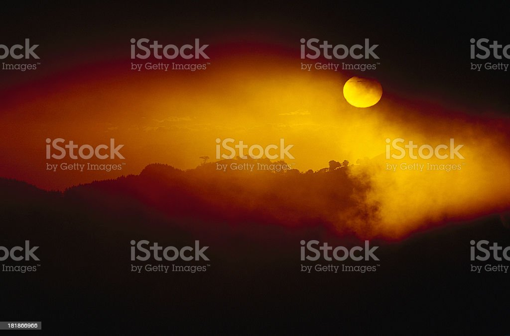 Sunset in Escazu, Costa Rica royalty-free stock photo