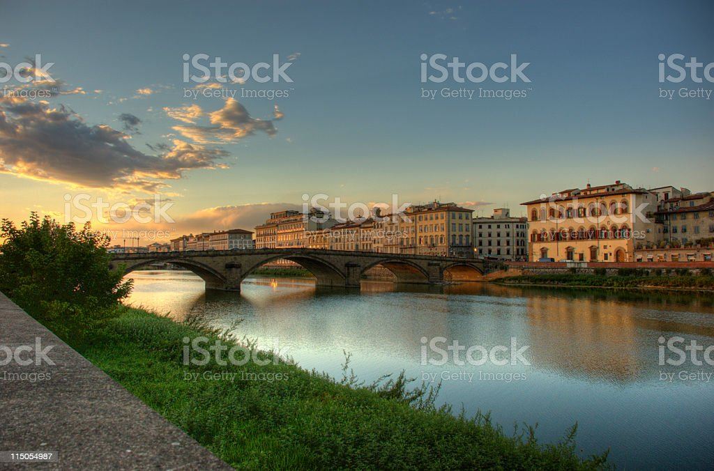 Sunset in Florence (Italy) (hdr image) royalty-free stock photo