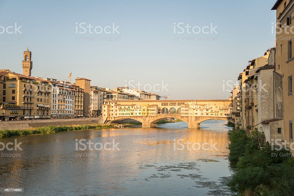 Sunset in Florence stock photo