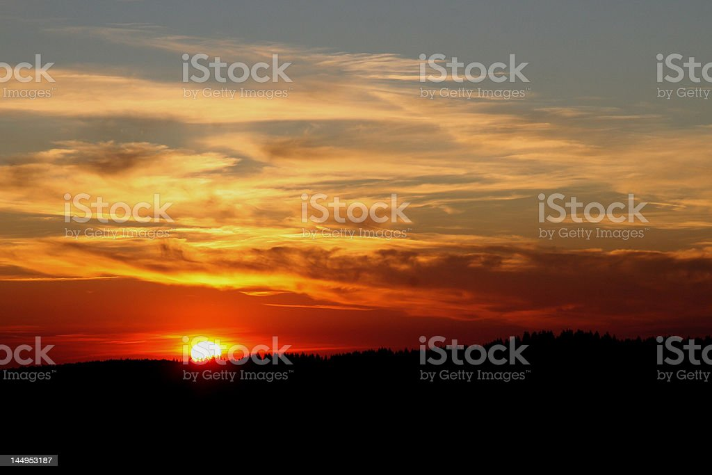 Tramonto in Francia foto stock royalty-free