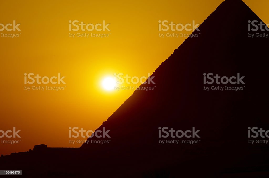 Sunset in Giza royalty-free stock photo