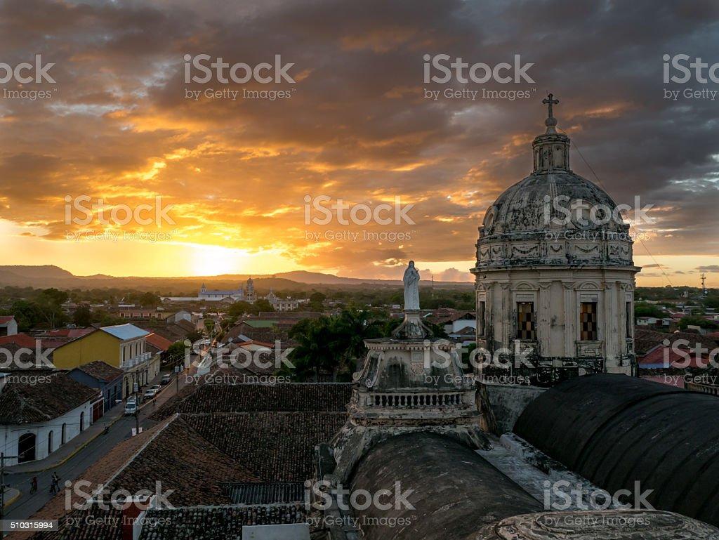 Sunset in Granada royalty-free stock photo