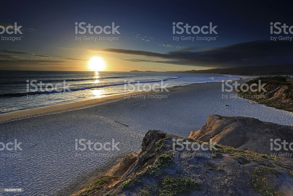 Sunset in Half Moon Bay, California stock photo