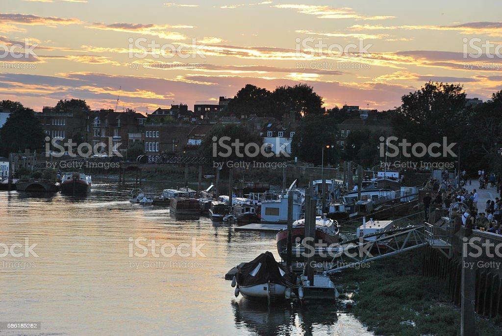 Sunset in Hammersmith stock photo