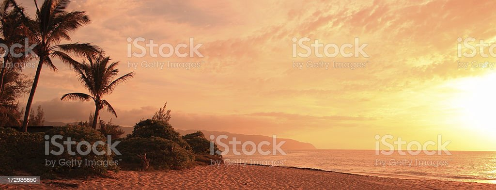 Sunset in Hawaii Islands royalty-free stock photo