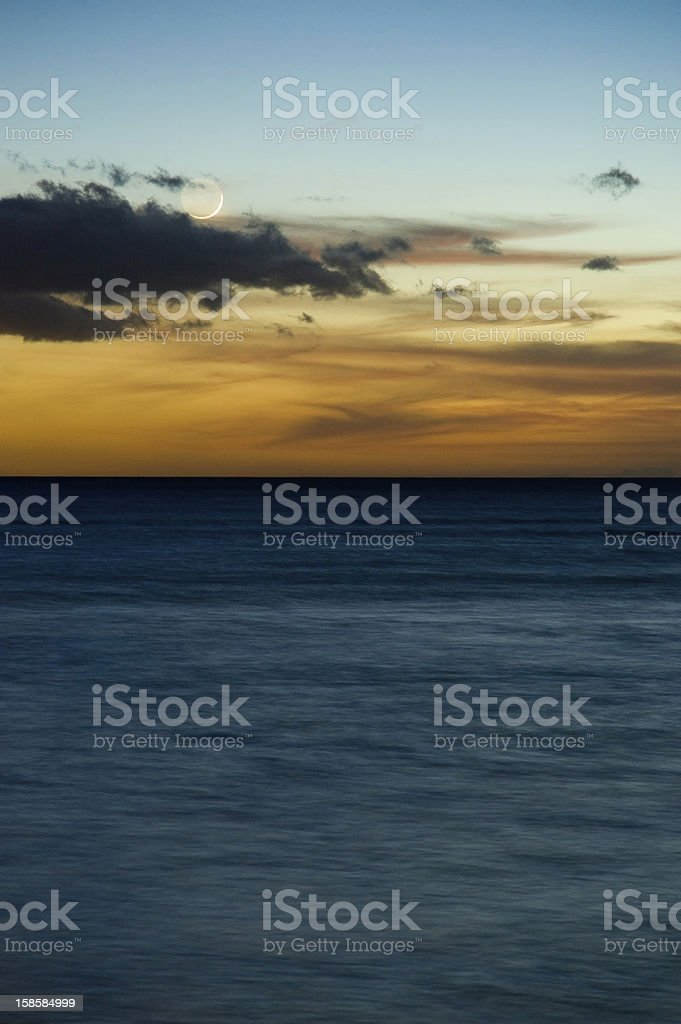 Sunset in Hawaii royalty-free stock photo
