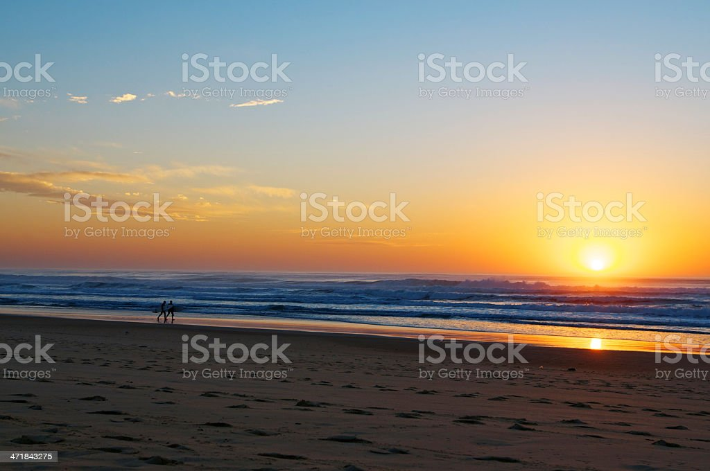 sunset in Hossegor royalty-free stock photo