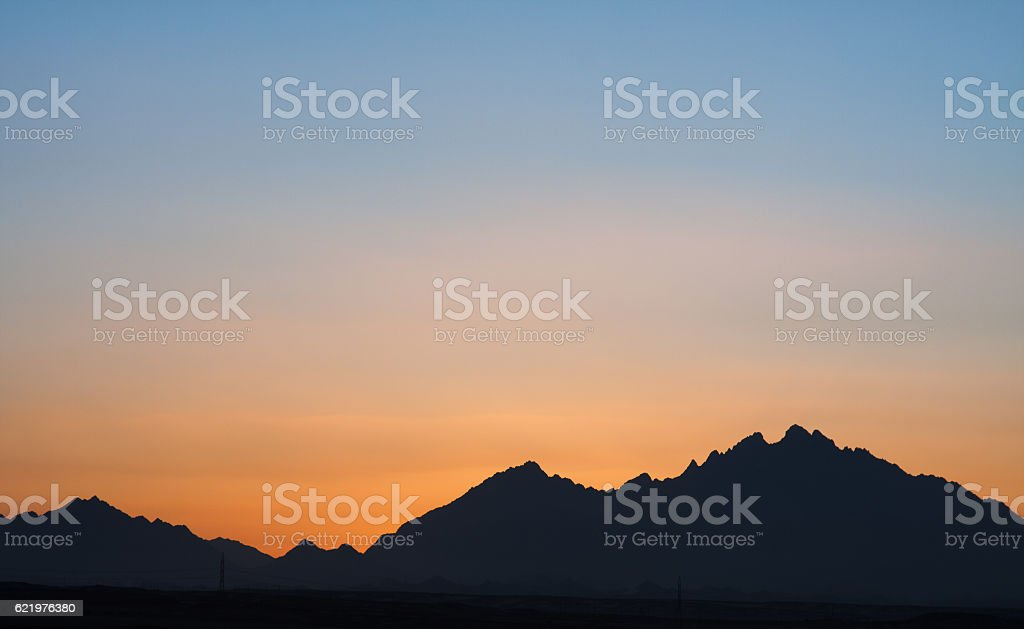 Sunset in Hurghada stock photo