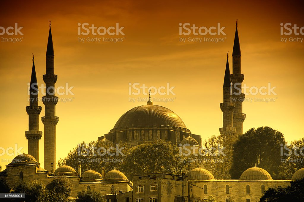 Sunset in Istanbul royalty-free stock photo