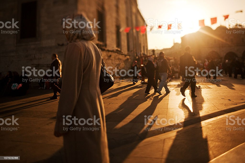 Sunset in Istanbul, Turkey royalty-free stock photo