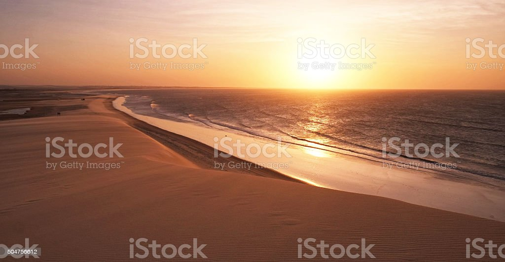 Sunset in Jericoacoara stock photo