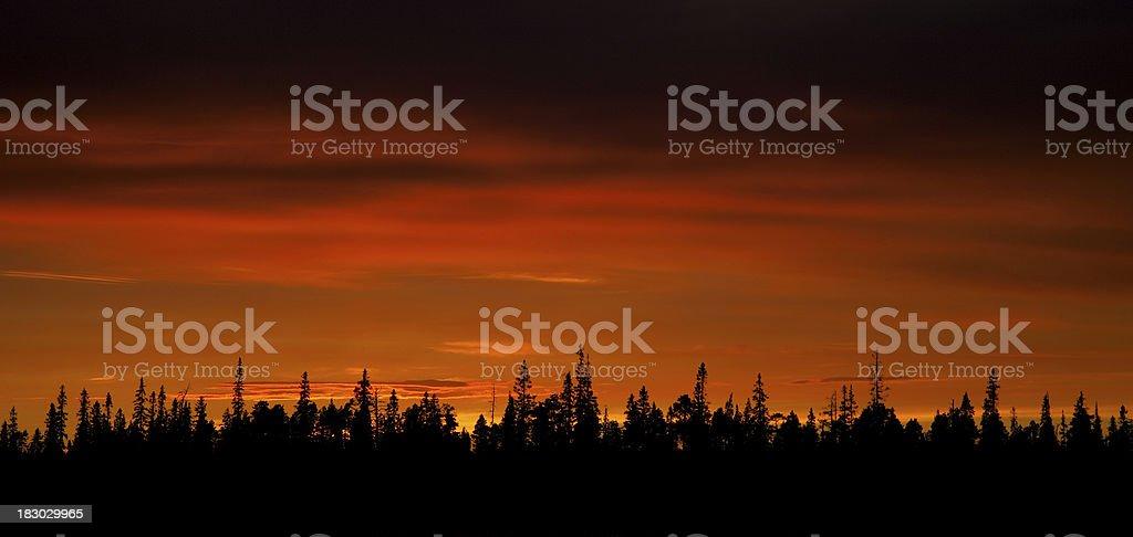 Sunset in Karelia. royalty-free stock photo