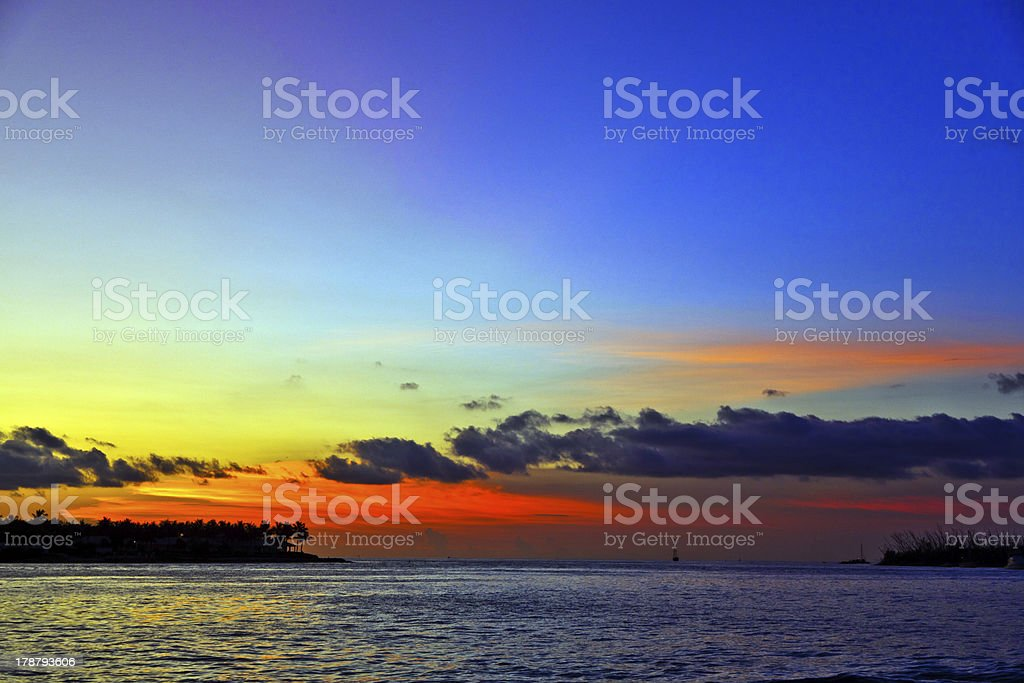 sunset in Key West royalty-free stock photo