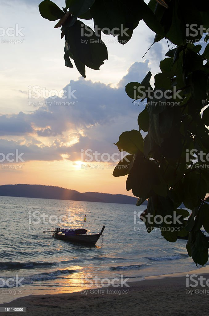 Sunset in Krabi royalty-free stock photo