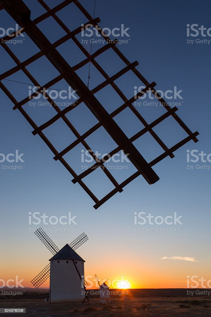 Sunset in La Mancha - Spain stock photo