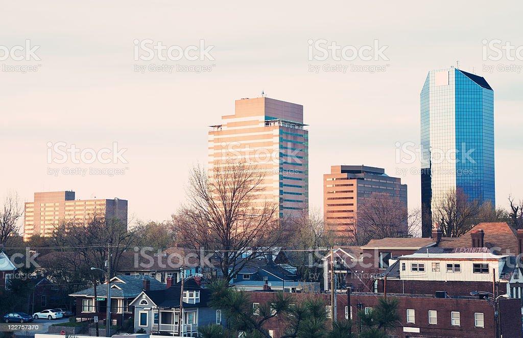 Sunset in Lexington stock photo