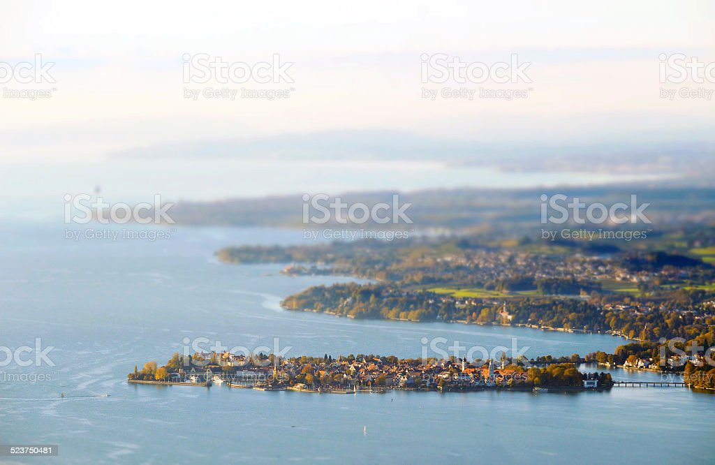 Sunset in Lindau @ Lake Constance / Germany stock photo