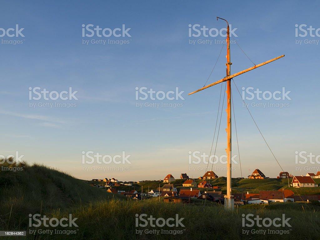 Sunset in Loenstrup stock photo