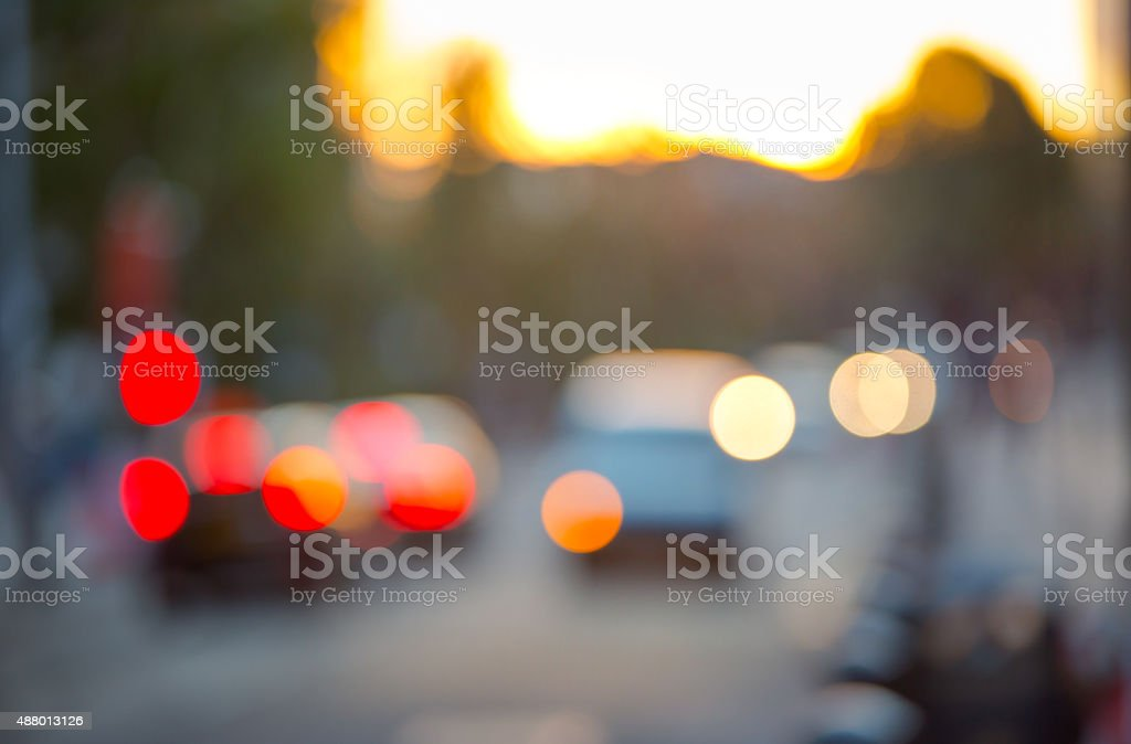 Sunset in London. Blur background stock photo