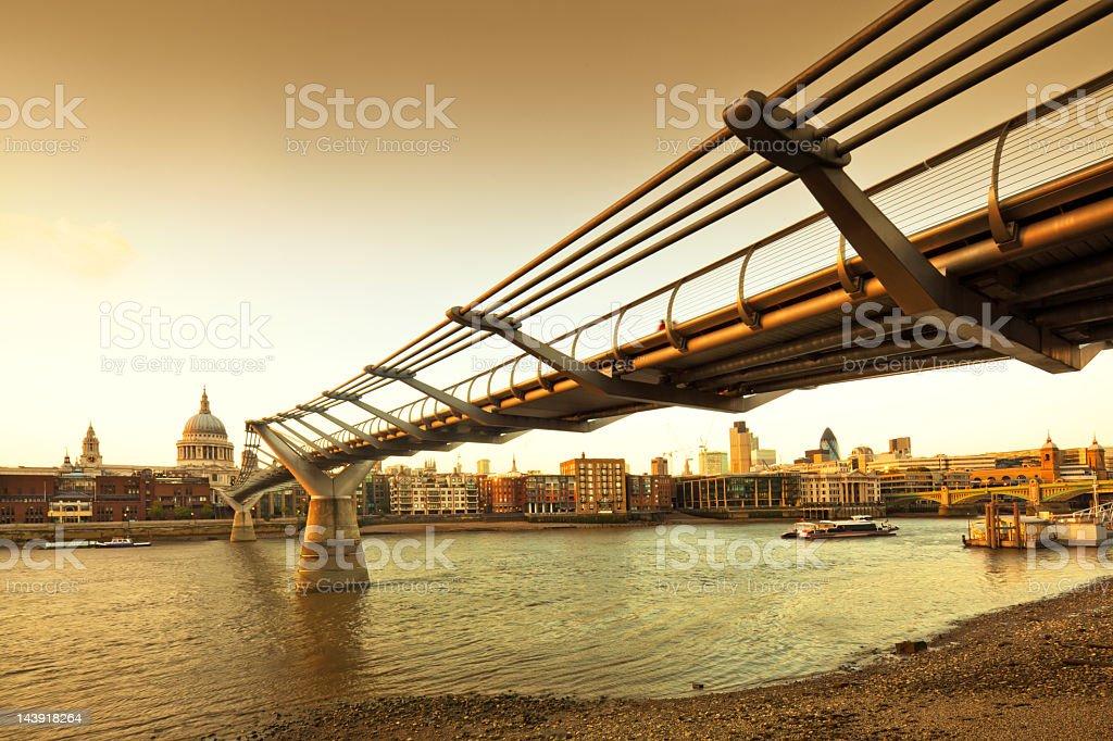 Sunset in London stock photo