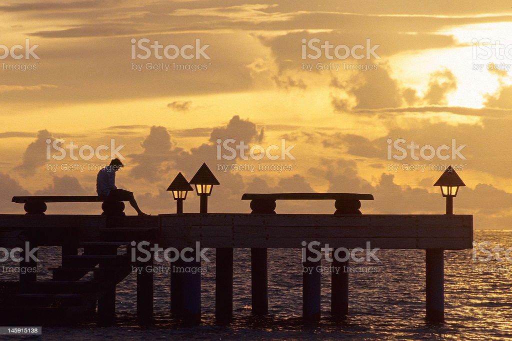 Sunset in Madoogali stock photo