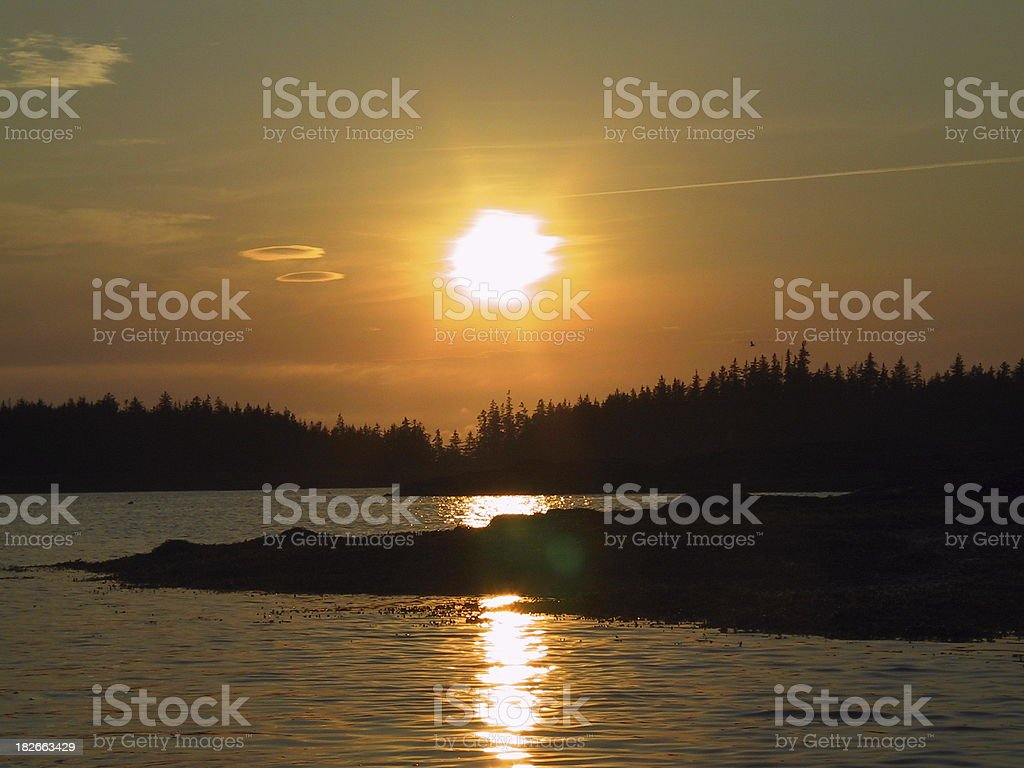 Sunset in Maine royalty-free stock photo