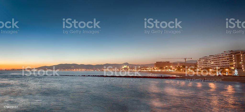 Sunset in Majorca with skyline royalty-free stock photo