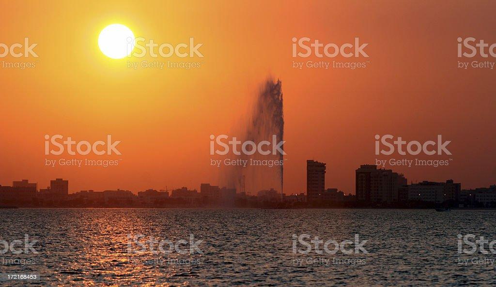 Sunset in Manama royalty-free stock photo