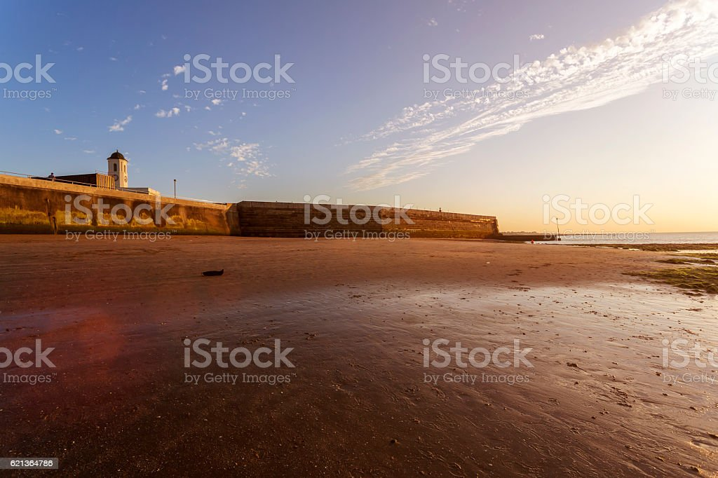 Sunset in Margate, England stock photo