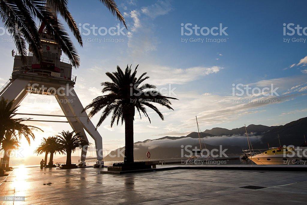 Sunset in Marina stock photo