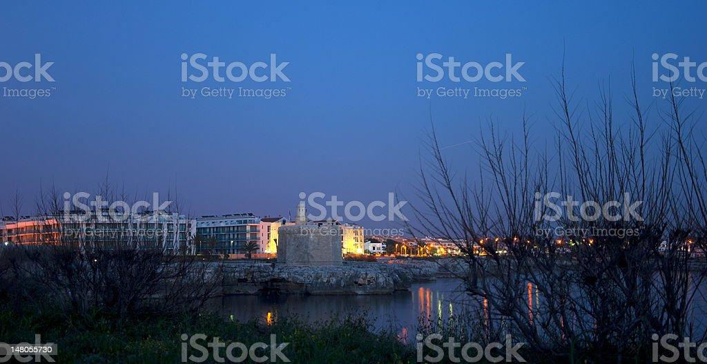 Sunset in Minorka stock photo