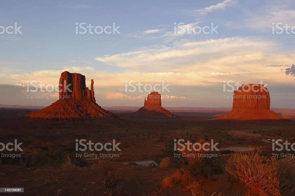 Sunset in Monument Valley. royalty-free stock photo
