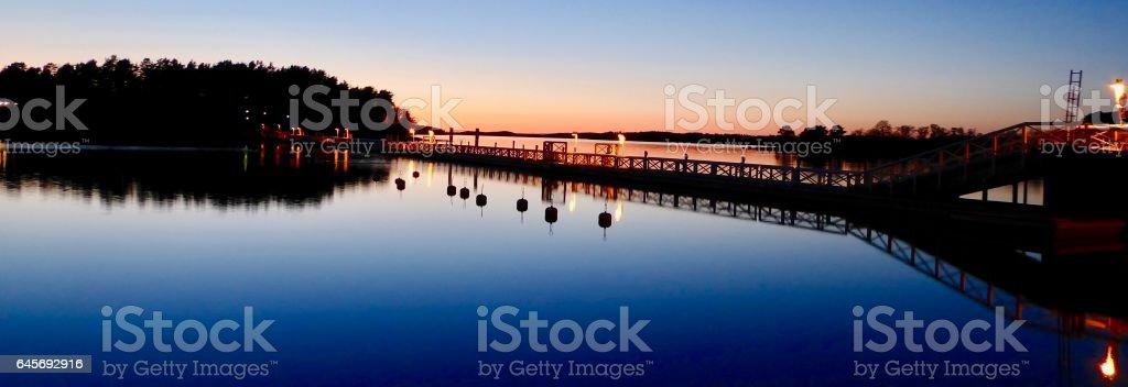 Sunset In Naantali - Moomin Land stock photo