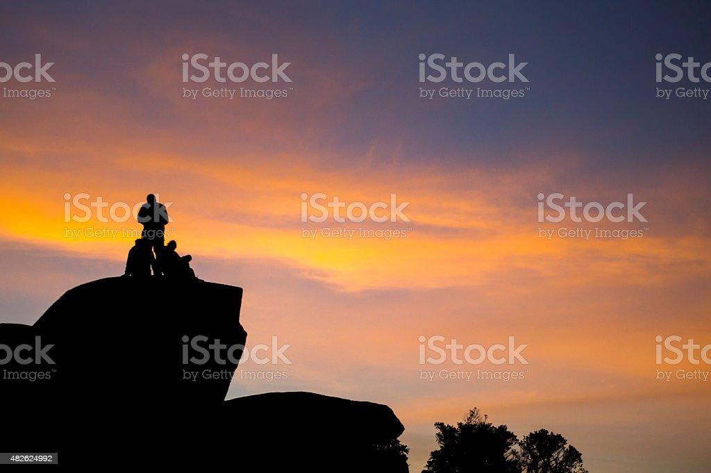 Sunset in Naiguata stock photo