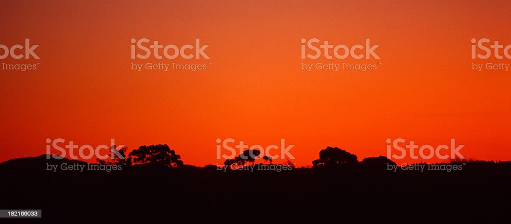 Sunset in New Zealand royalty-free stock photo