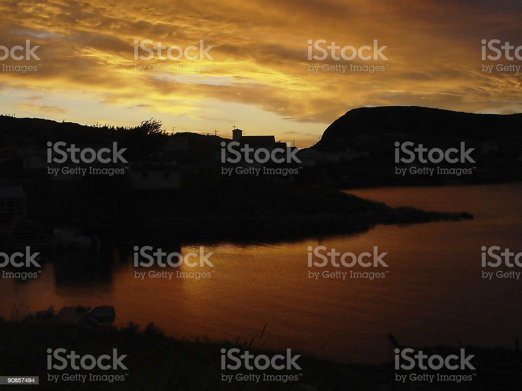 Sunset in Newfoundland royalty-free stock photo