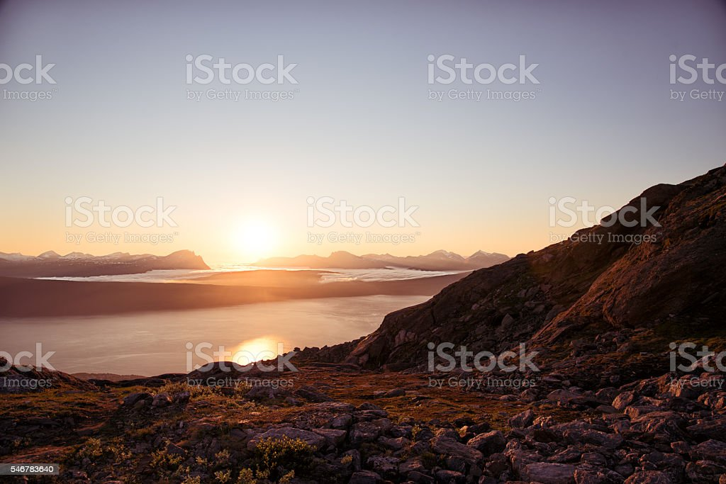 Sunset in Norway 1 stock photo
