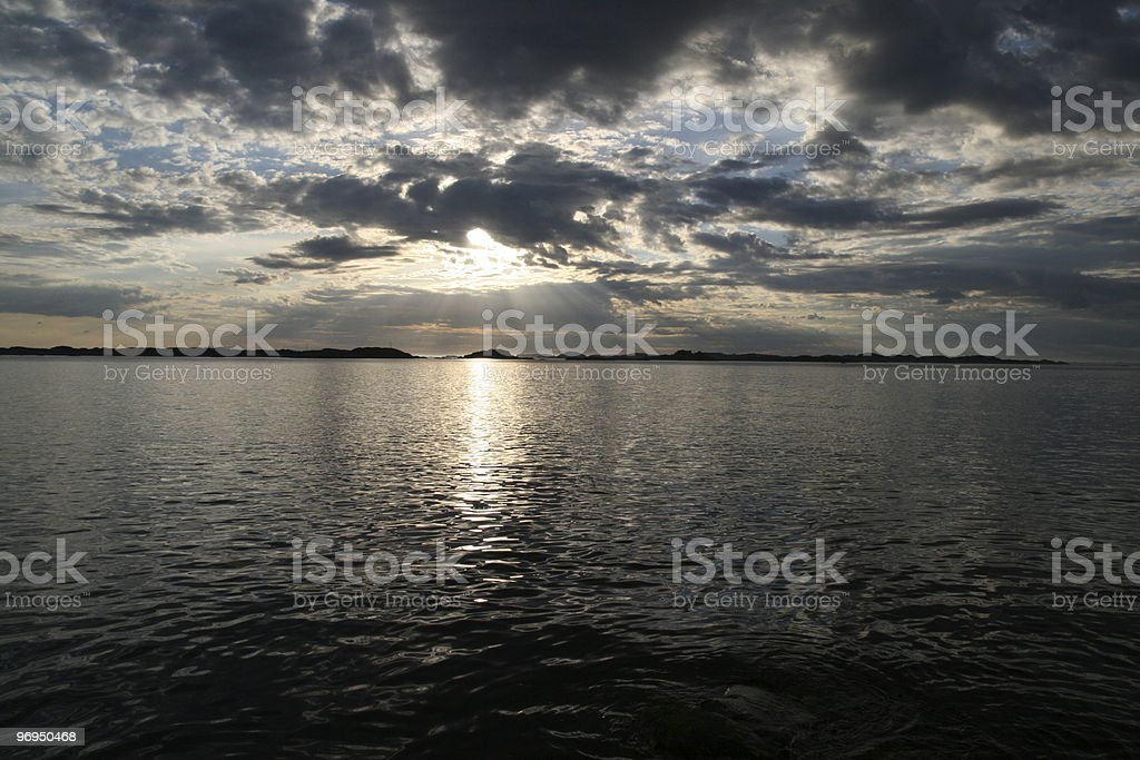 Sunset in Norway royalty-free stock photo