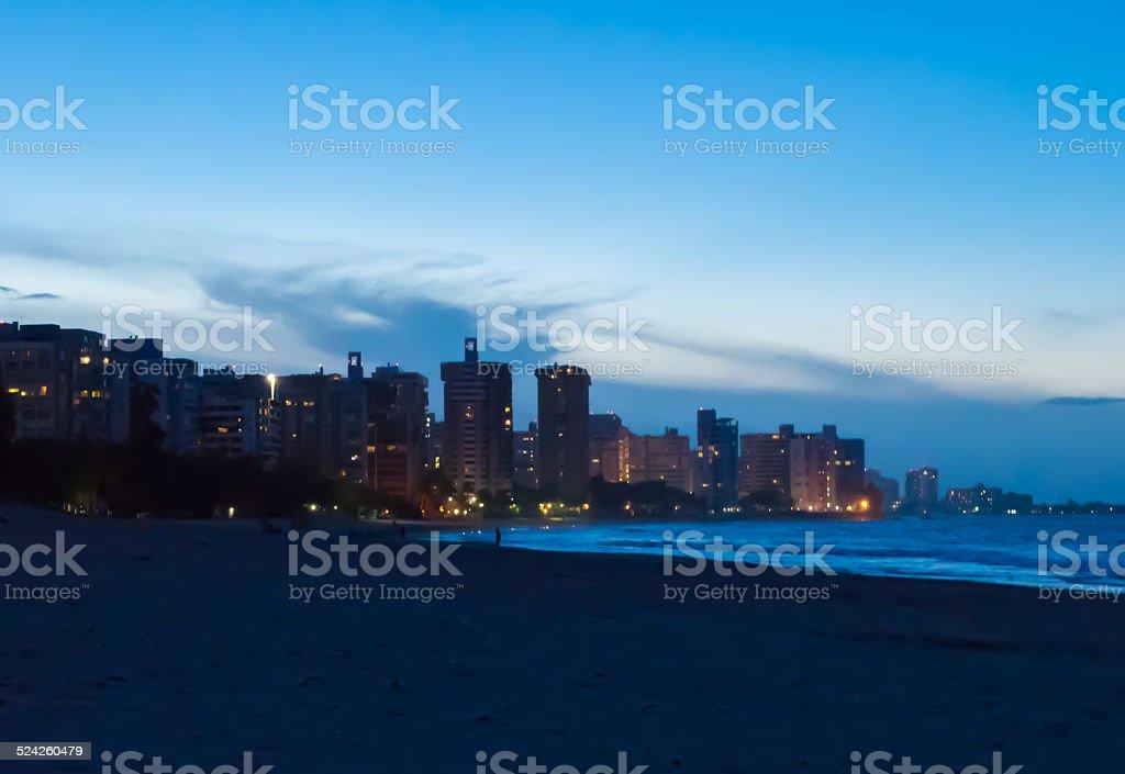 Sunset in Ocean Park Beach, Puerto Rico stock photo
