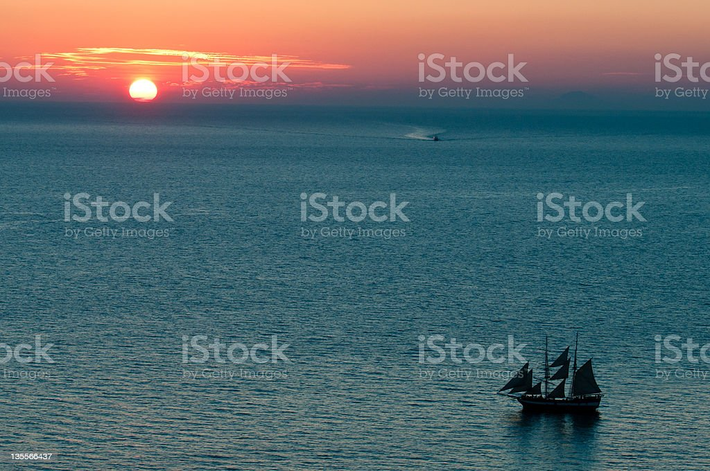 Sunset in Oia royalty-free stock photo
