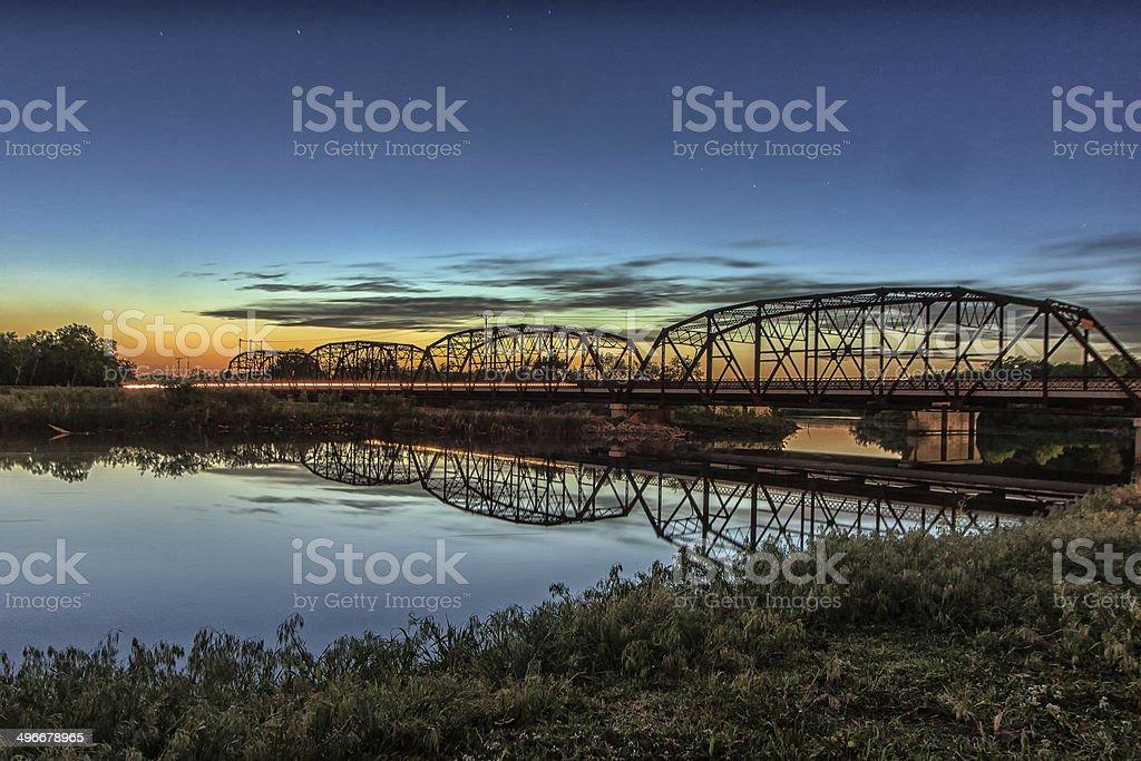 Sunset in Oklahoma stock photo