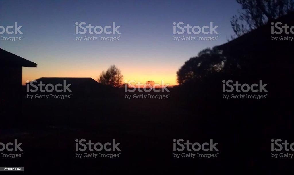 Coucher de soleil dans l'Oklahoma photo libre de droits