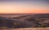 Sunset in Outback Australia near Silverton, NSW