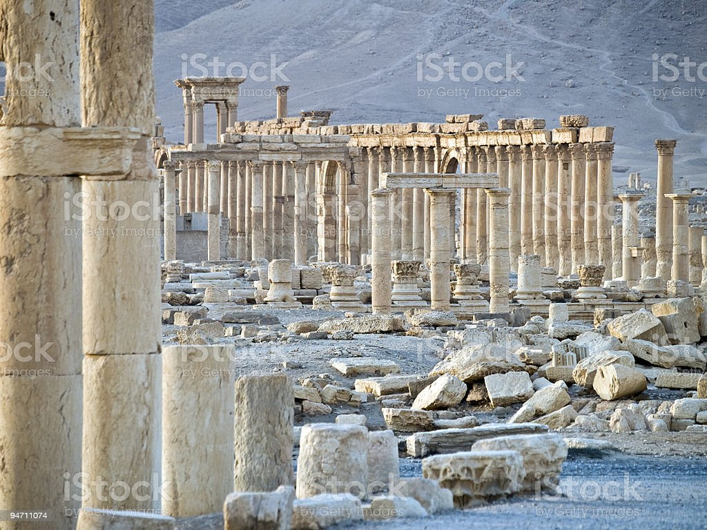 Sunset in Palmyra stock photo