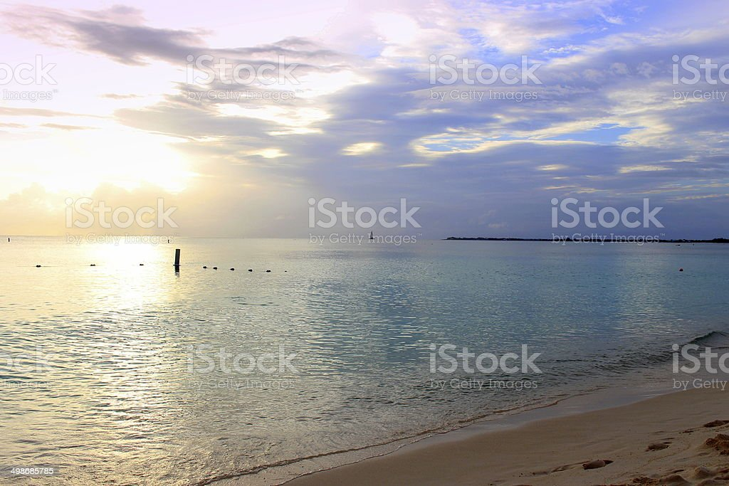 Sunset in Paradise stock photo