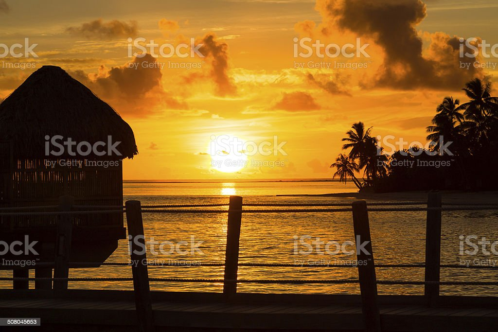 Sunset in Paradise stock photo