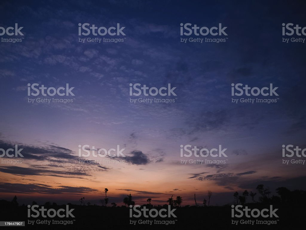 sunset in Paraguay royalty-free stock photo