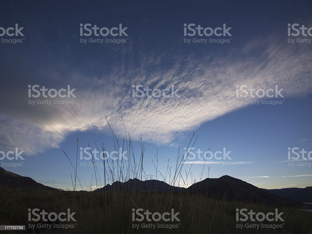 Sunset in Patagonia royalty-free stock photo