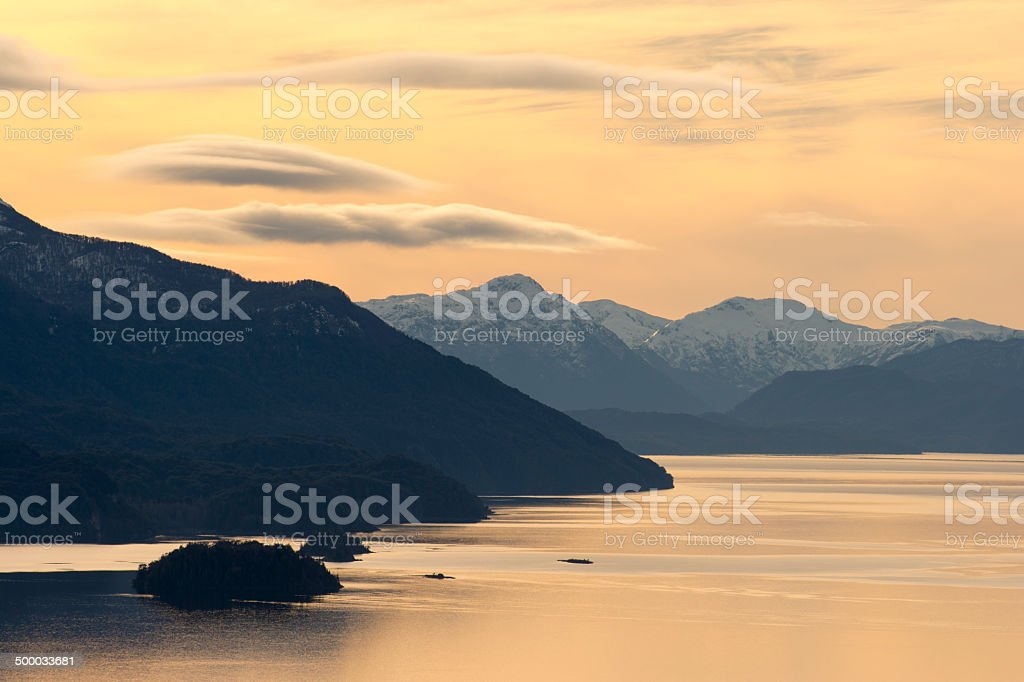 Atardecer en Patagonia royalty-free stock photo