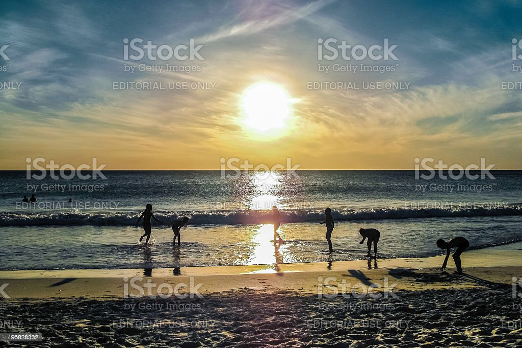 Sunset in Perth stock photo